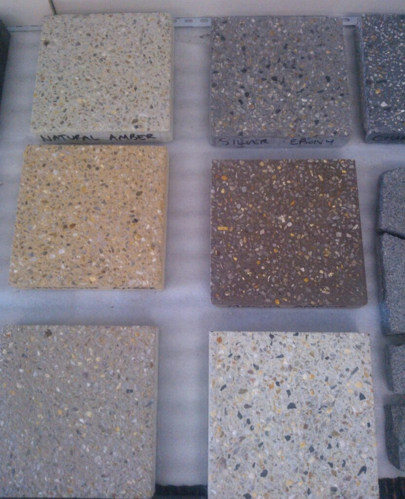 Aggregated stone pavers