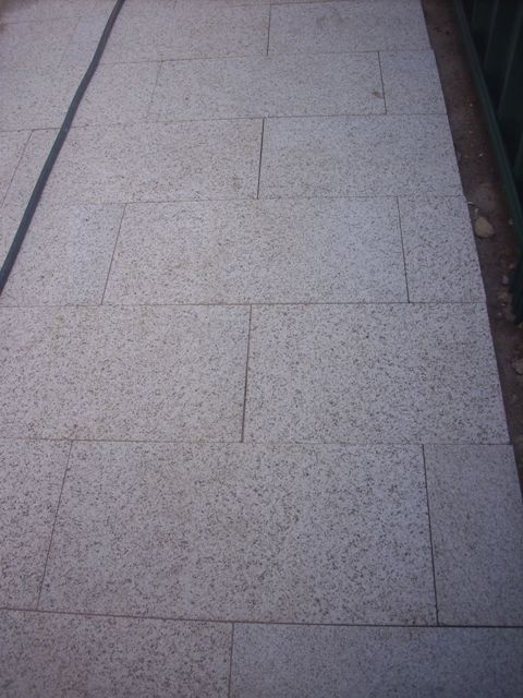 Creamy Colour granite pavers 3