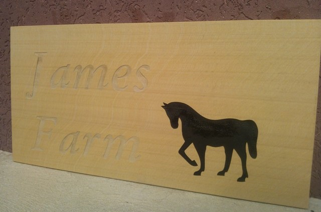 James Farm Sign