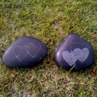 Personalised wedding gifts engraved rock