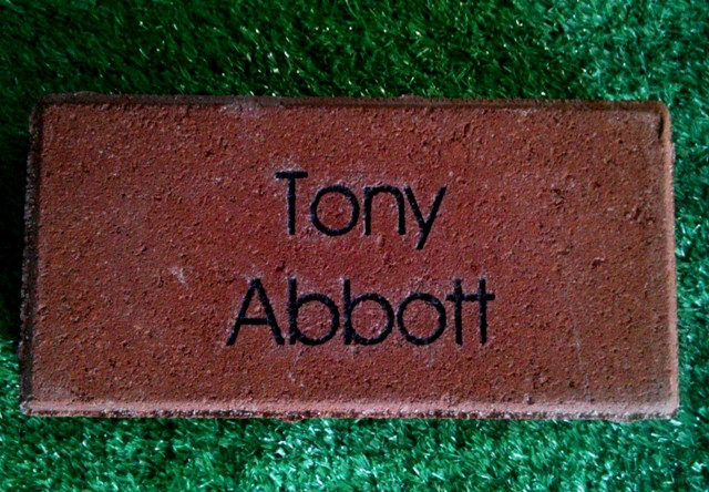 Engraved Brick Tony Abbott