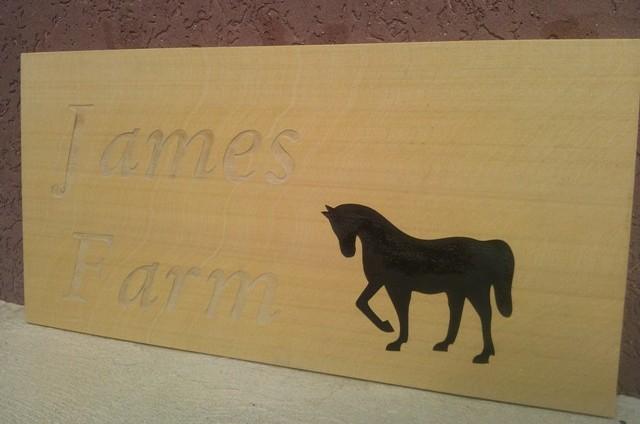 James Farm Sign
