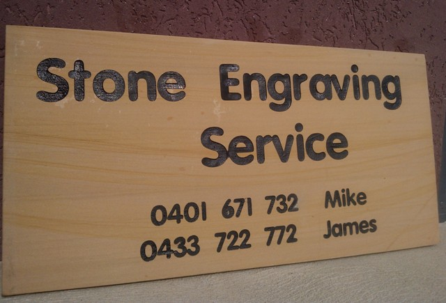 Stone Engraving business signage