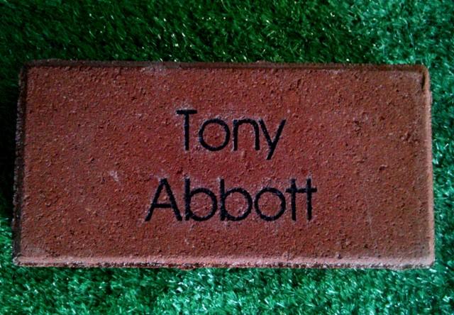 Engraved Brick Tony Abbott